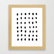 Jacques Pattern - Pure White Framed Art Print
