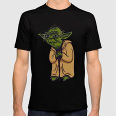 Yoda Black Mens Fitted Tee MEDIUM
