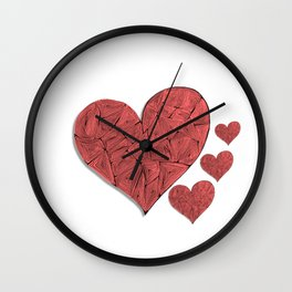 Heart-print Wall Clock