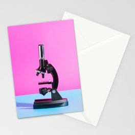 Portrait of a Microscope Stationery Cards
