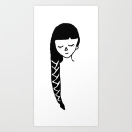 Pleated Girl Art Print