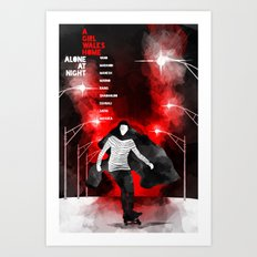 A GIRL WALKS HOME ALONE AT NIGHT :: POSTER 02 Art Print