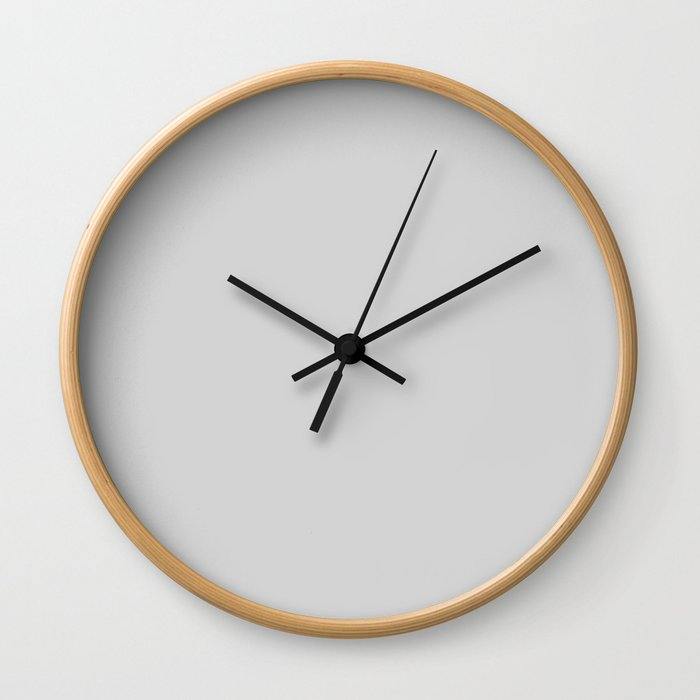 Light Gray - solid color Wall Clock