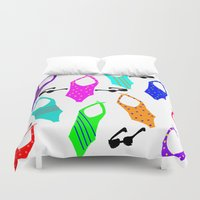 suits Duvet Covers featuring Bathing Suits by Whatcha-McCall-it