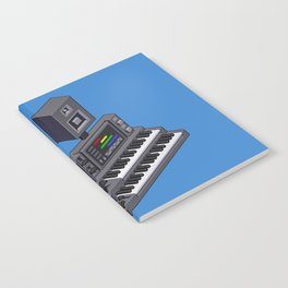 Electronic music altar — isometric pixel art Notebook