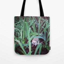 Juni Hedgehog Adventure in Plants Tote Bag