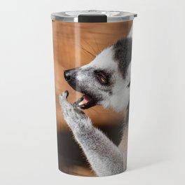 Ring tail lemur eating Travel Mug
