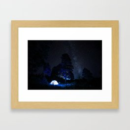 Camping out at Zion National Park's West Rim Trail at about 7,000 feet. 2 Framed Art Print