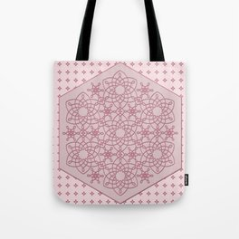 Six Knots Pale Pink Tote Bag