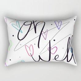 Oh well hearts Rectangular Pillow