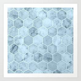 Bright Blue Tiles Art Print