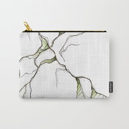 Matcha & Gold Cracks Carry-All Pouch