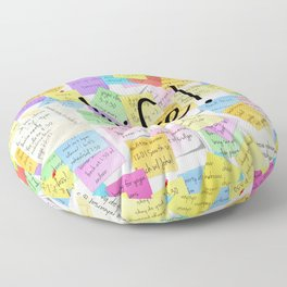 life is a series of notepads Floor Pillow