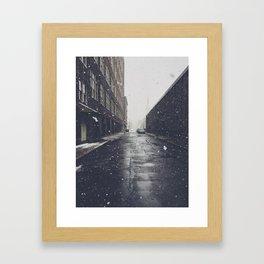 Snow in the City Framed Art Print