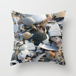 Shell Menagerie Throw Pillow