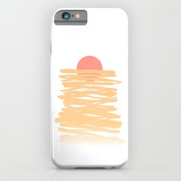 Let the Sunshine rise #lineart iPhone Case