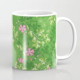 Forest Wildflowers / Green Background Coffee Mug