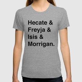 Goddesses of Magick   Hecate Freyja Isis Morrigan T-shirt