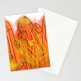 Crystals - Orange Stationery Cards