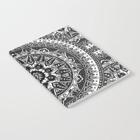 Black and White Mandala Pattern Notebook