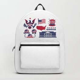 Proud To Be American Happy National Presidents Day Backpack