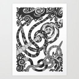 Wandering 46: grayscale Art Print