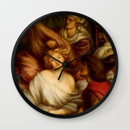 "Dante Gabriel Rossetti ""Morning Music"" Wall Clock"