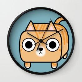 Cat Loaf - Orange Tabby Kitty Wall Clock