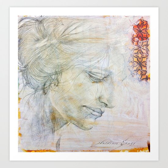 Silverpoint Portrait Art Print