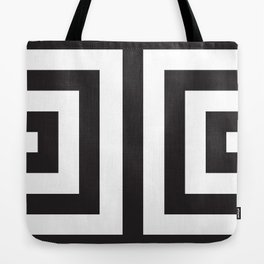 Black Greek Stripes Tote Bag