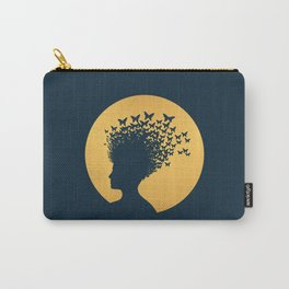 Woman and Butterflies Carry-All Pouch