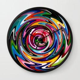 multi-coloured craze Wall Clock