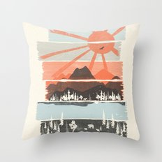 Morning by Bear River... Throw Pillow