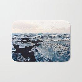 Ice Field on Diamond Beach, Iceland Bath Mat