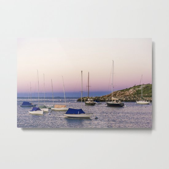 Earth's shadow over the harbor Metal Print