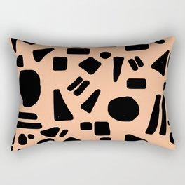 Peach and Black Rectangular Pillow