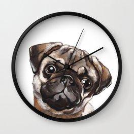 The Melancholy Pug Wall Clock