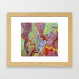 Brass Yellow Framed Art Print