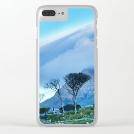 Table Mountain blanketed in cloud Clear iPhone Case