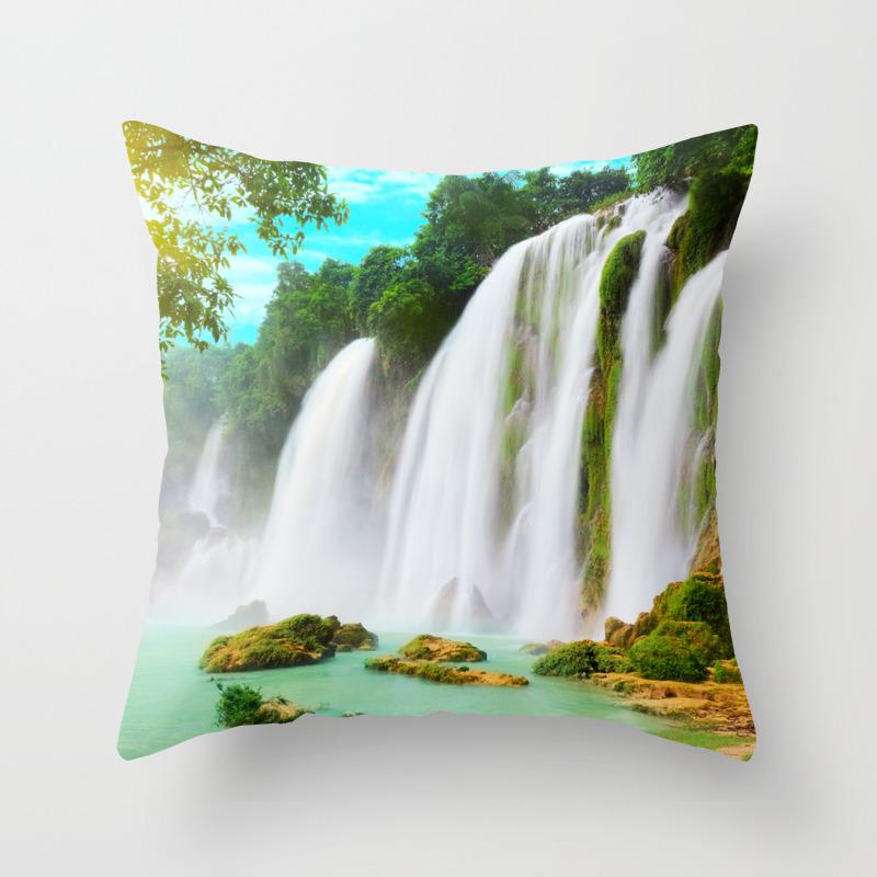 Detian Waterfall Throw Pillow By Aptine Society6