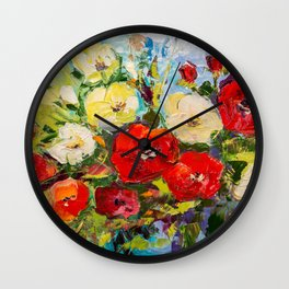 Bright bouquet Wall Clock