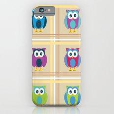 Plaid Owls Slim Case iPhone 6s