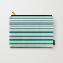 Mint stripes Carry-All Pouch