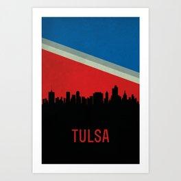 Tulsa Skyline Art Print