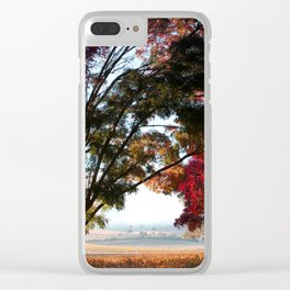 Australian Autumn Landscape Clear iPhone Case