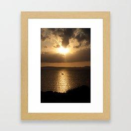 Majorca Sunset Framed Art Print