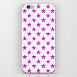 Stars (Magenta & White Pattern) iPhone Skin