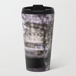 cafe window Metal Travel Mug