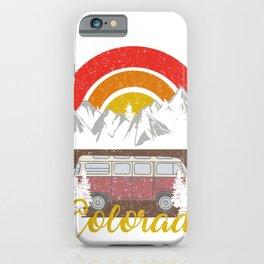 Gunnison Colorado Vintage Camping Retro Custom iPhone Case