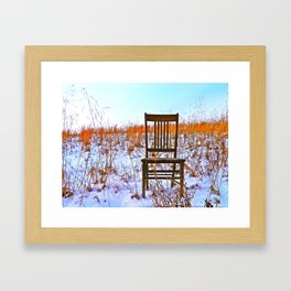 Winter Can Be Lonely Framed Art Print
